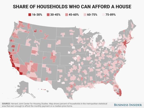 2017在美国各大城市租个两居室,收入得这个数....