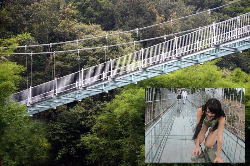 【震撼】白水湾空中会动的玻璃桥,11月18日等你来挑战